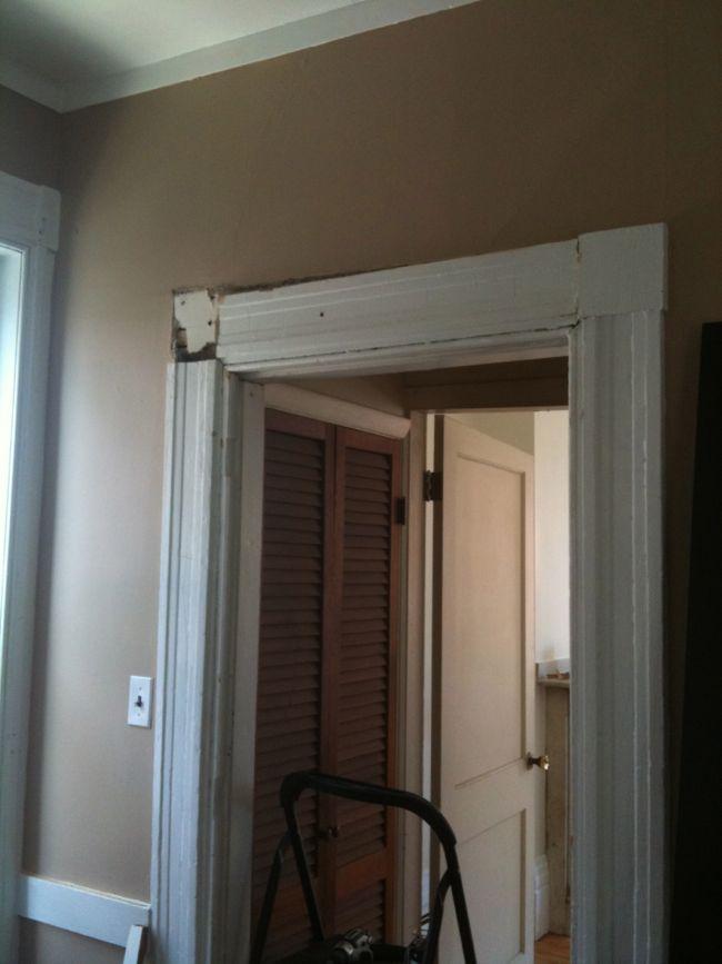 Leveling the Doorframe in Progress