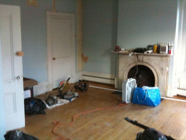 Living Room Under Construction