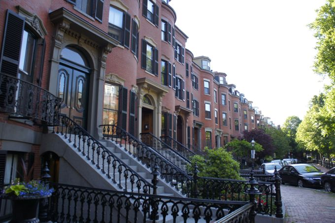 Boston South End Row Houses