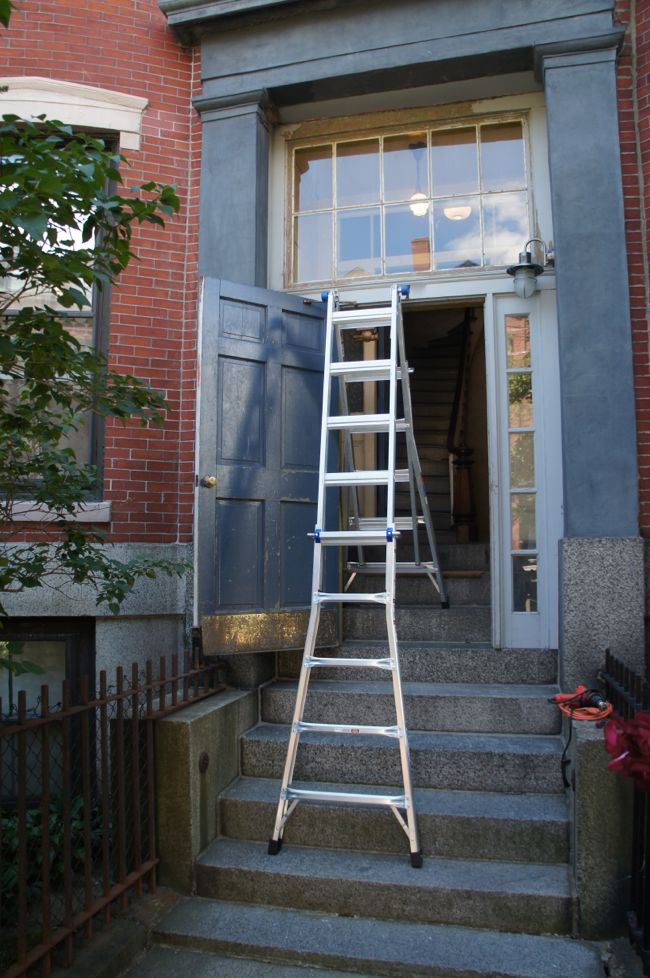 Ladder on Steps