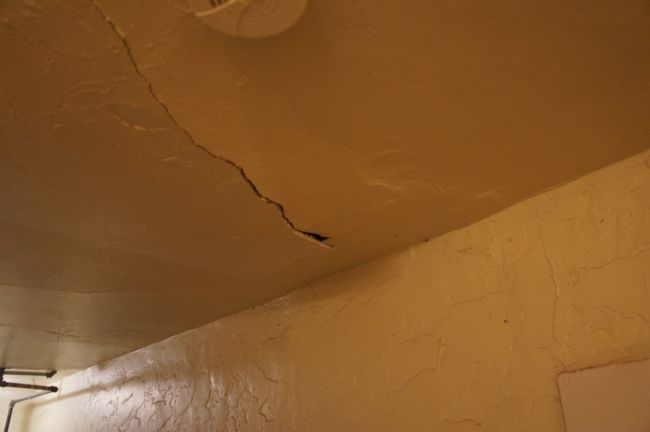 Cracked Plaster Ceiling