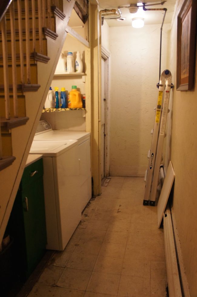 Laundry Area Under the Stairs