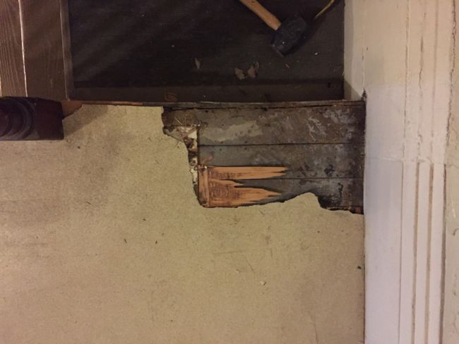 uncovering pine floors