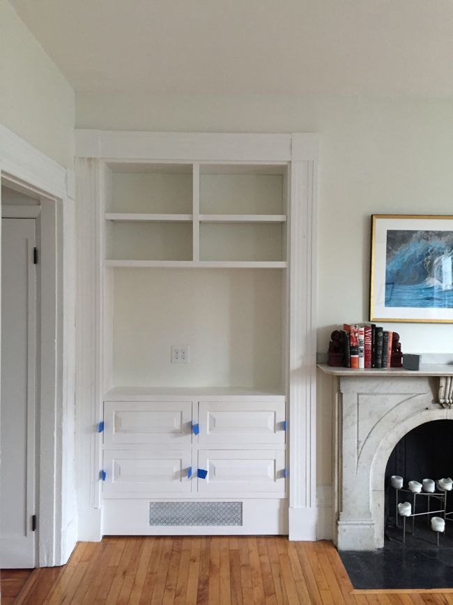 Finished Built-in Hutch