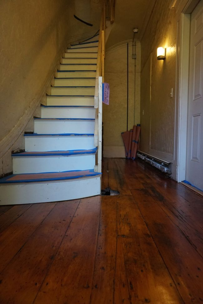 Refinished Entryway Floors