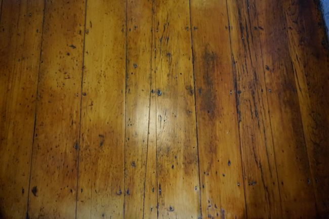 Original Pine Flooring Close-up