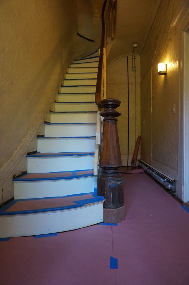 Stairwell with Newel