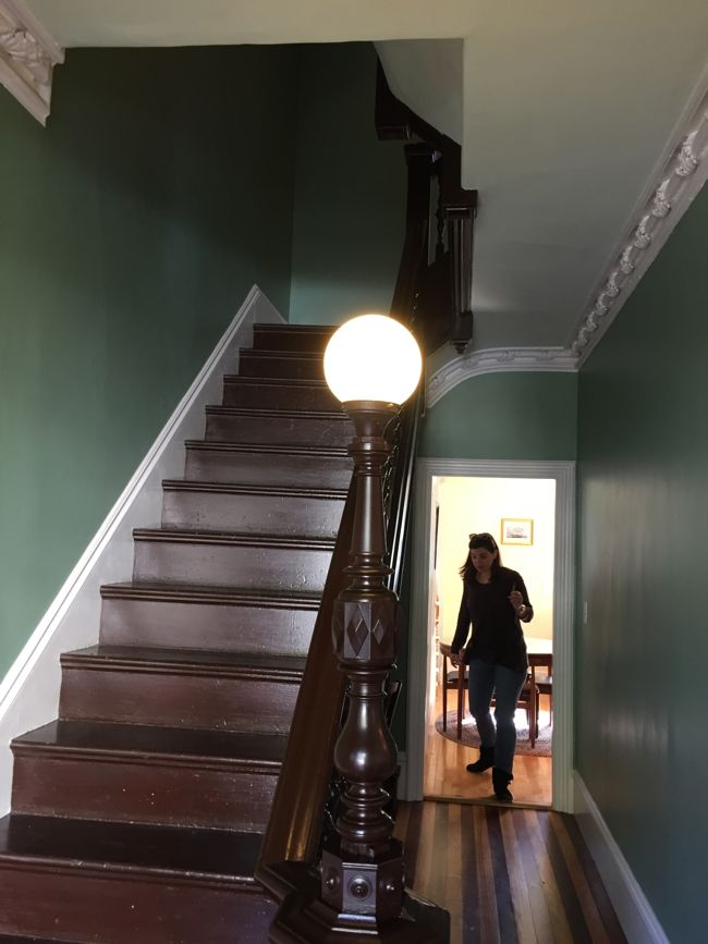 Green Victorian Stairwell