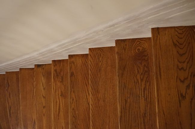 caulked stair treads