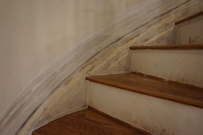 patched baseboard