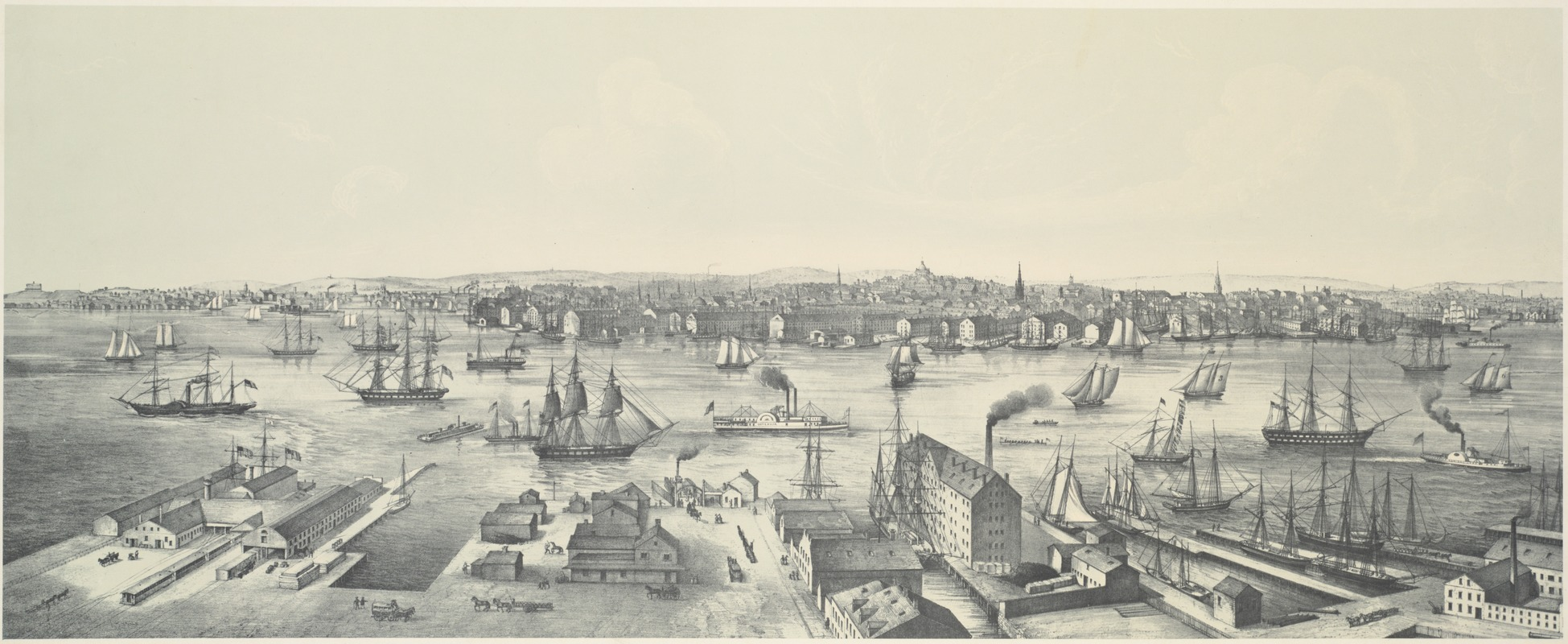View of Boston 1848