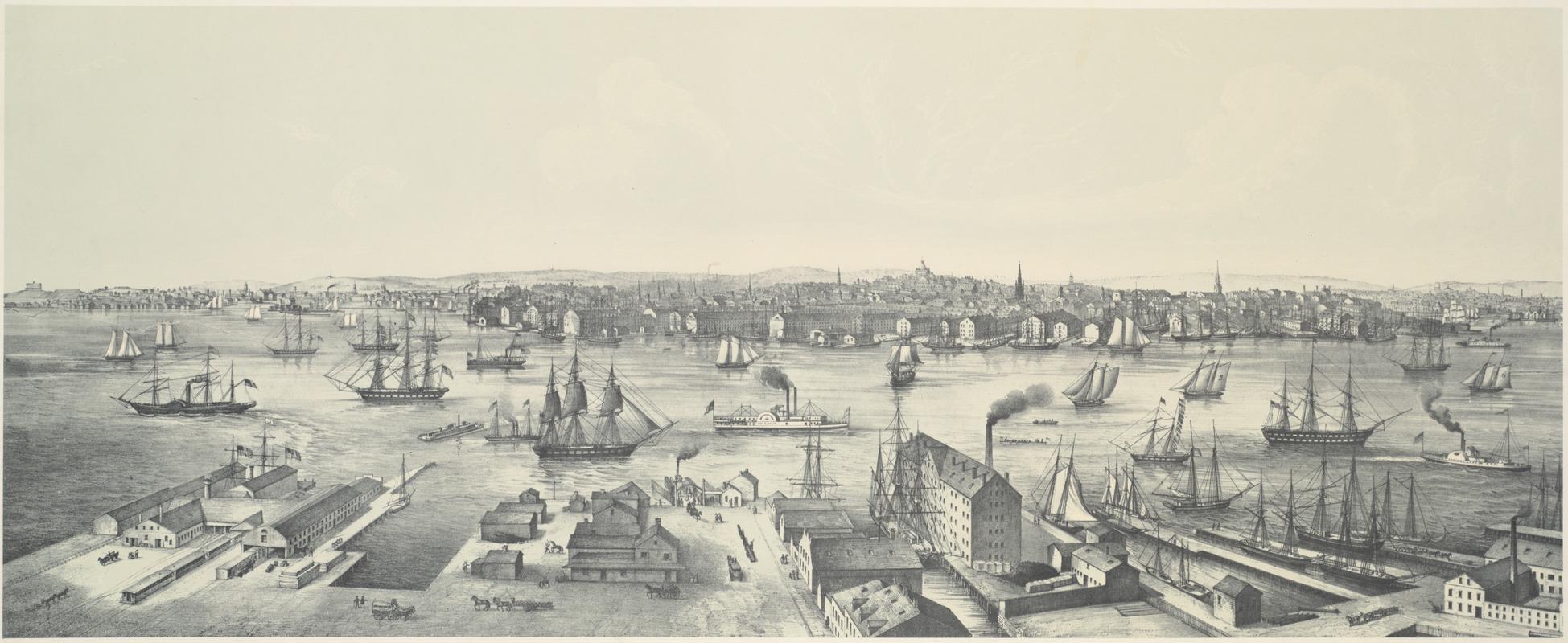 View of Boston 1848